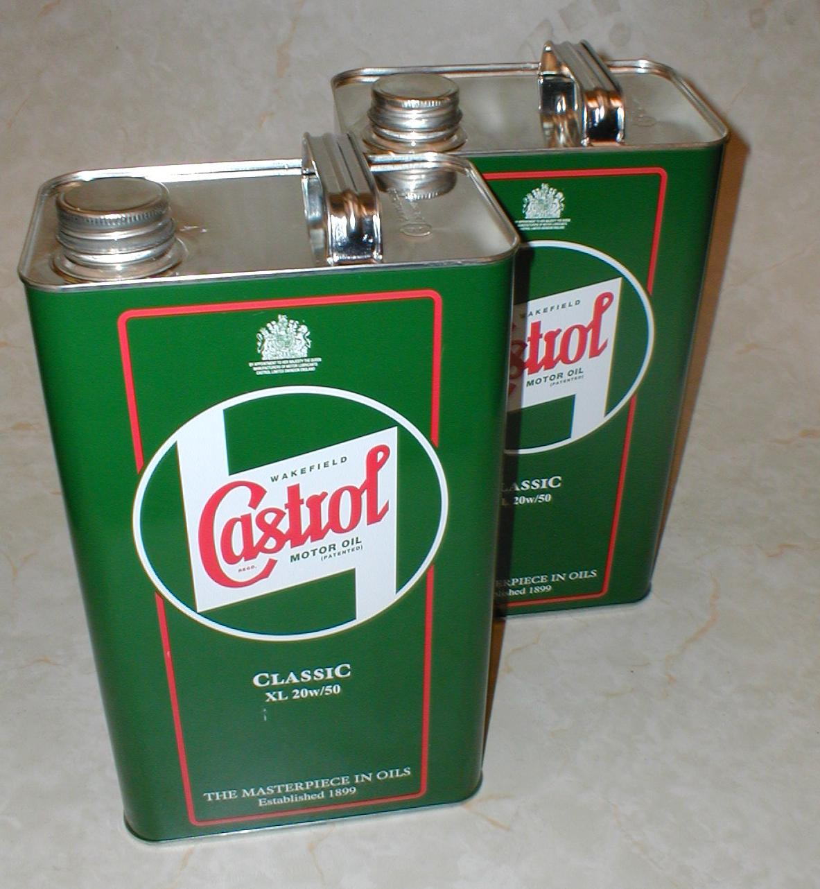 Castrol Classic Xl 20w 50 Engine Motor Oil 2 Gallons